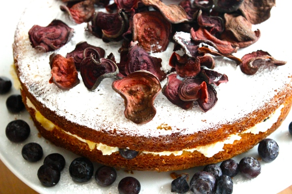 Lemon&Almond cake infused with lemon verbena syrup