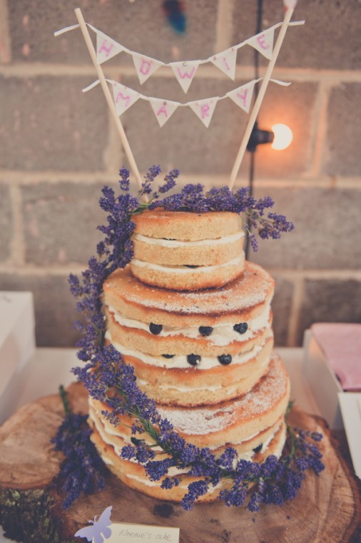 Naked Wedding cake- Photo by Kate Cooper