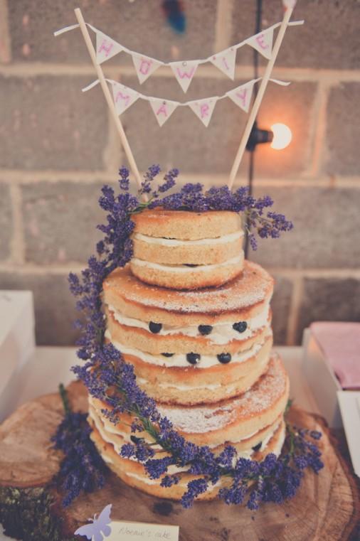 Naked Wedding cake- Photo by Kate Cooper