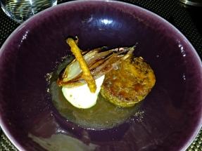 Lamb shoulder Ponzu caramel, roast onion