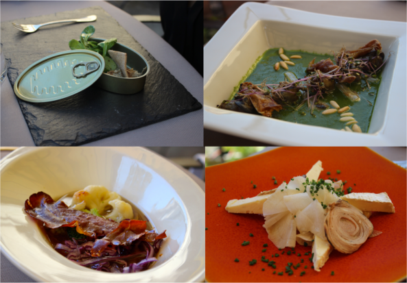 Some dishes from Menu Cochon